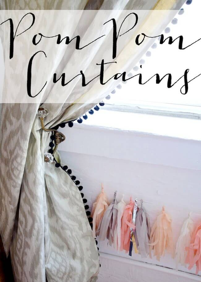 Sweet and Delicate Pom Pom Curtains