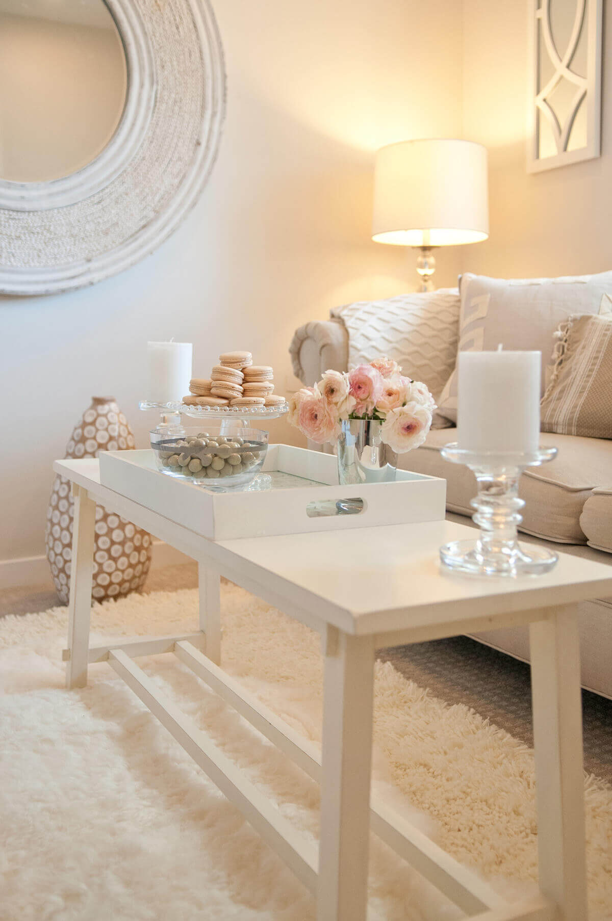 Soft and pretty beige interior