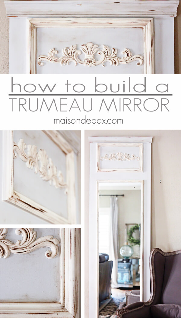 Antique-looking Trumeau Mirror