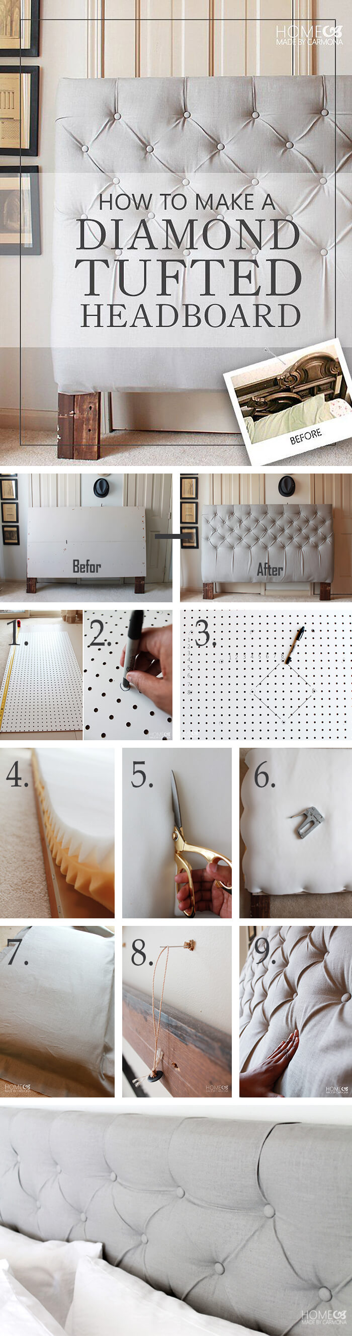 Get Anastasia Steele S Tufted Headboard Diy Project