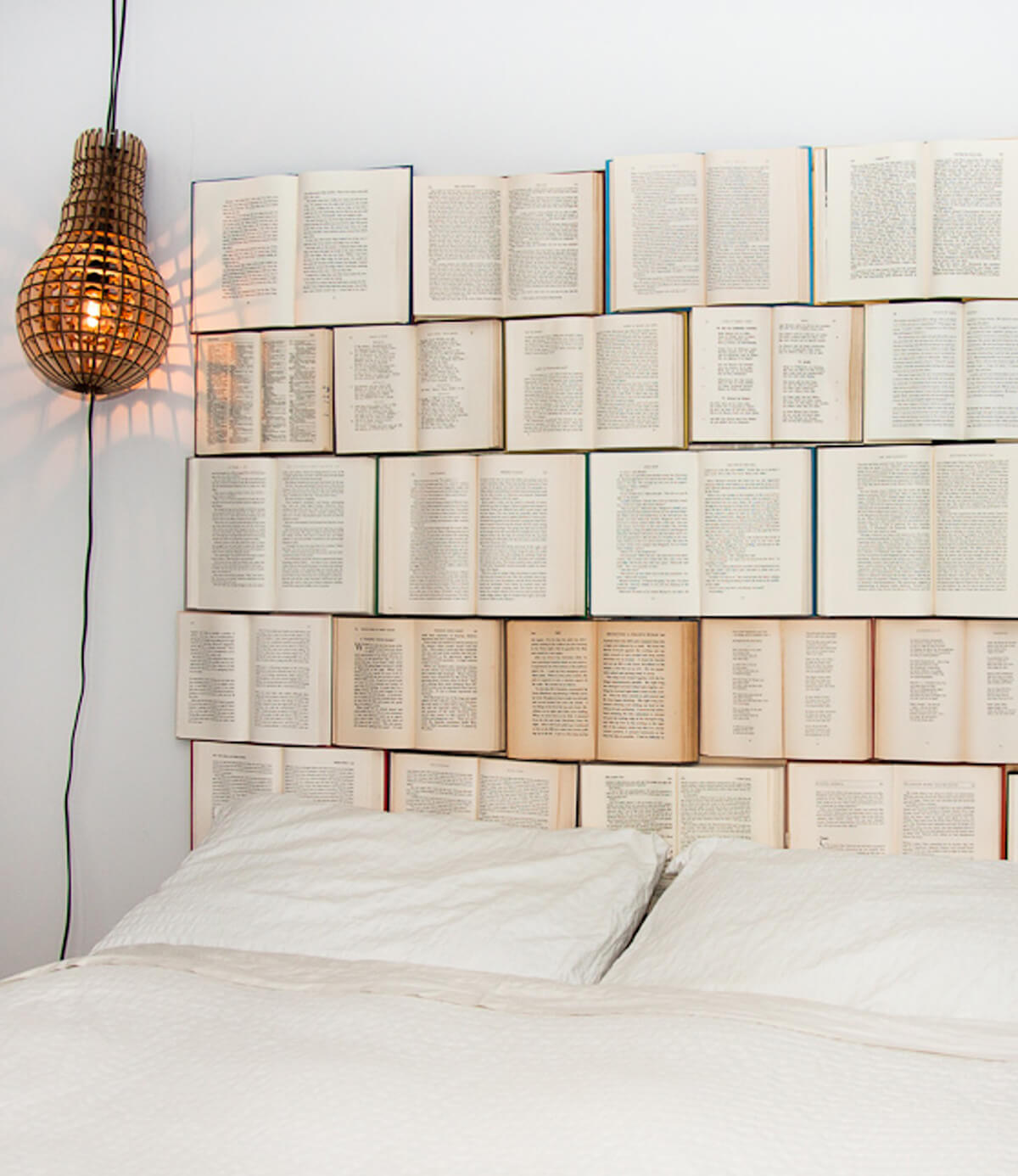 DIY Old Book Headboard Craft Project