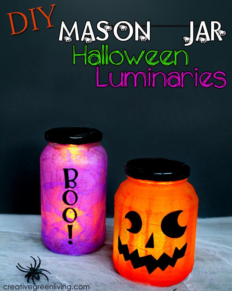 not-so-scary halloween mason jar lanterns — homebnc