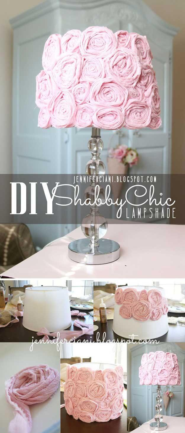 Chic Floral Ribbon Lampshade Project