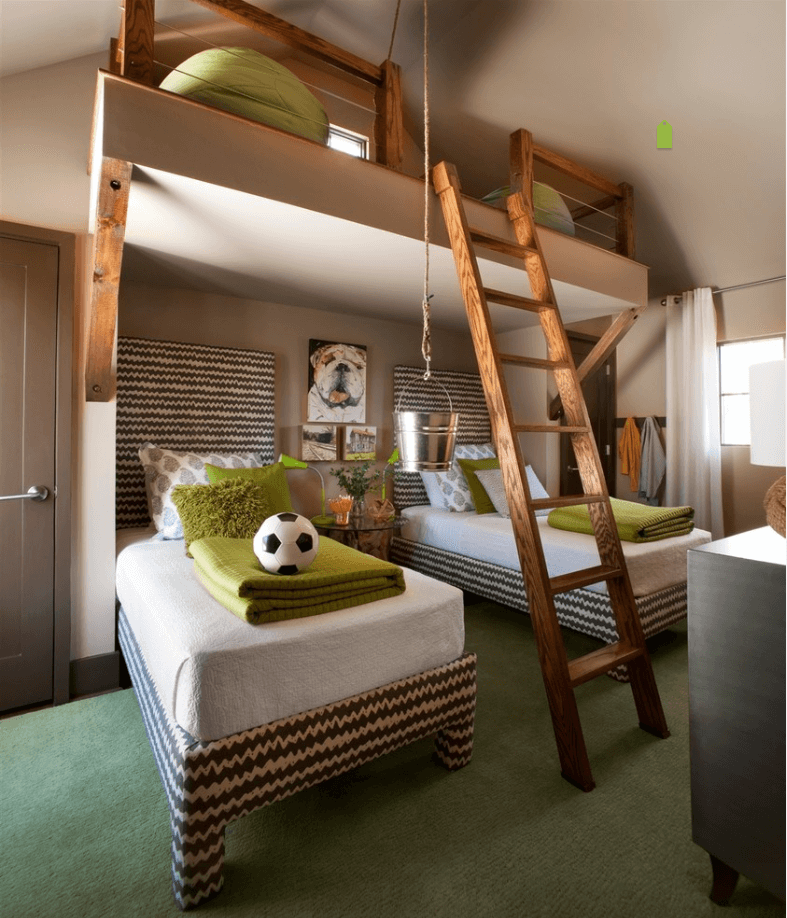 Modern Multi-Level Teenage Boy Room Ideas