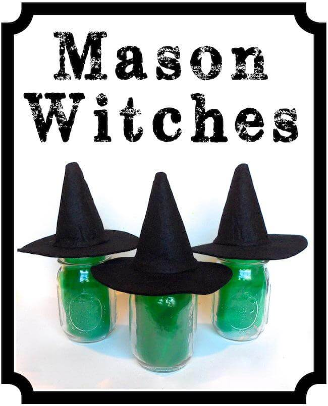 Super Simple Mason Jar Witches