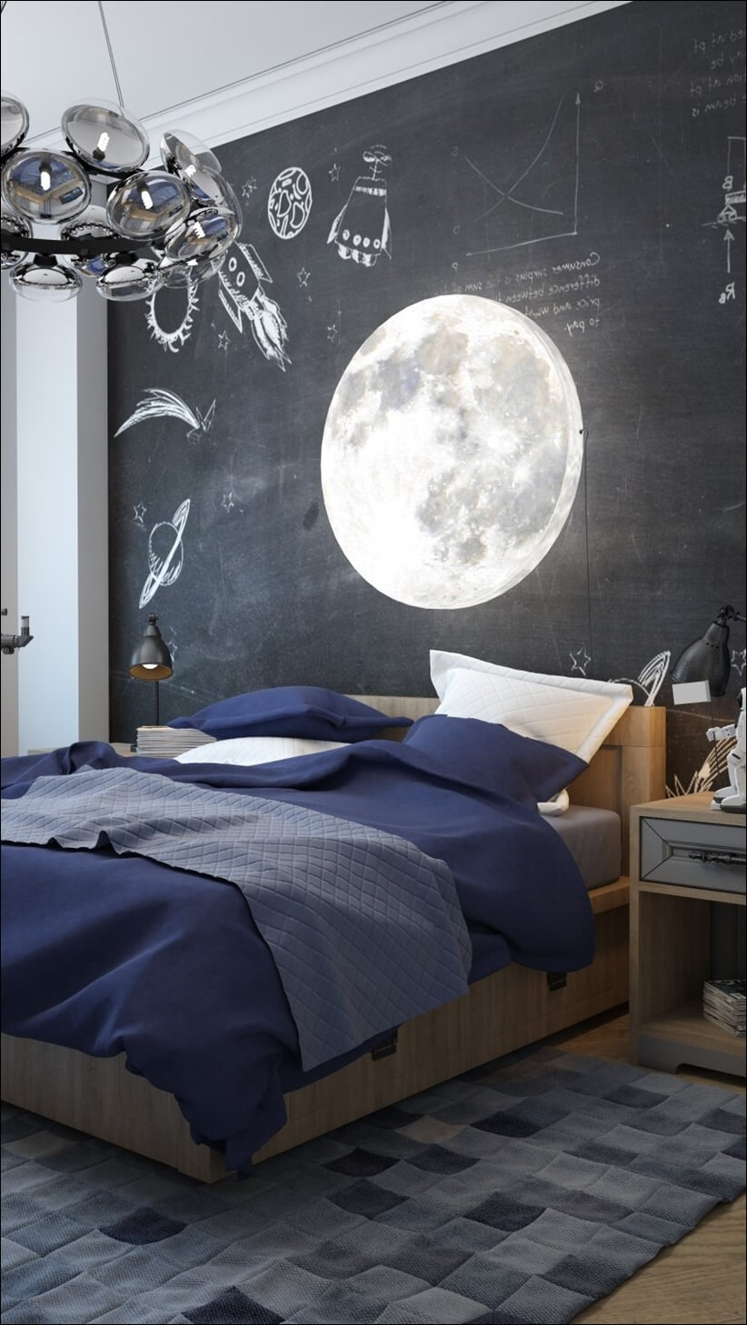 Space Theme Teenage Boy Room Decor
