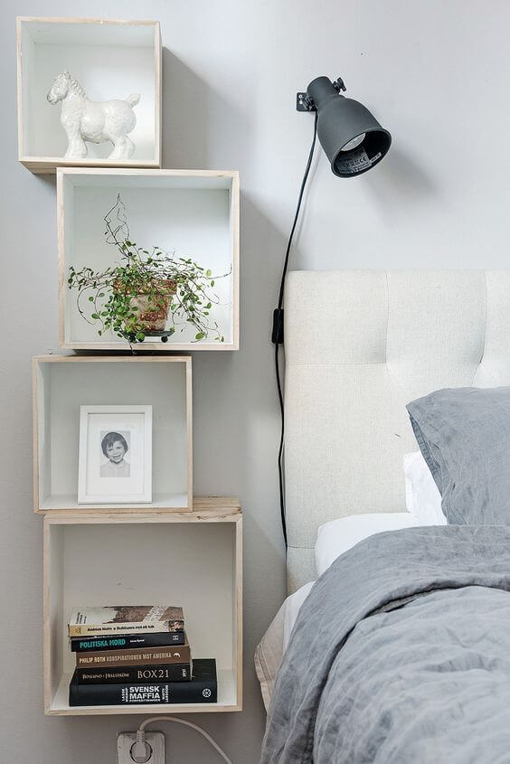 Stacked Floating Shelves for Extra Storage