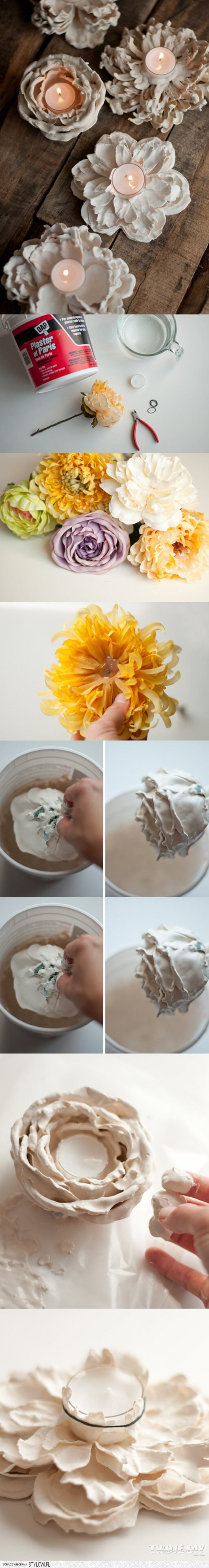 DIY Fresh Flower Votive Holders