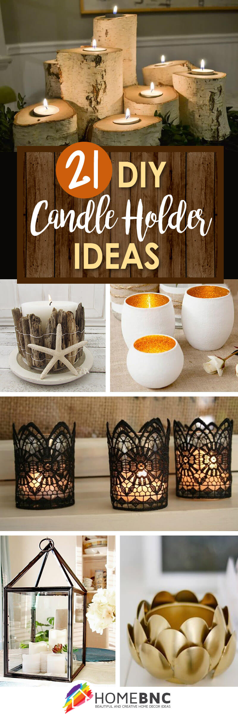 DIY Candle Holder Decor Ideas
