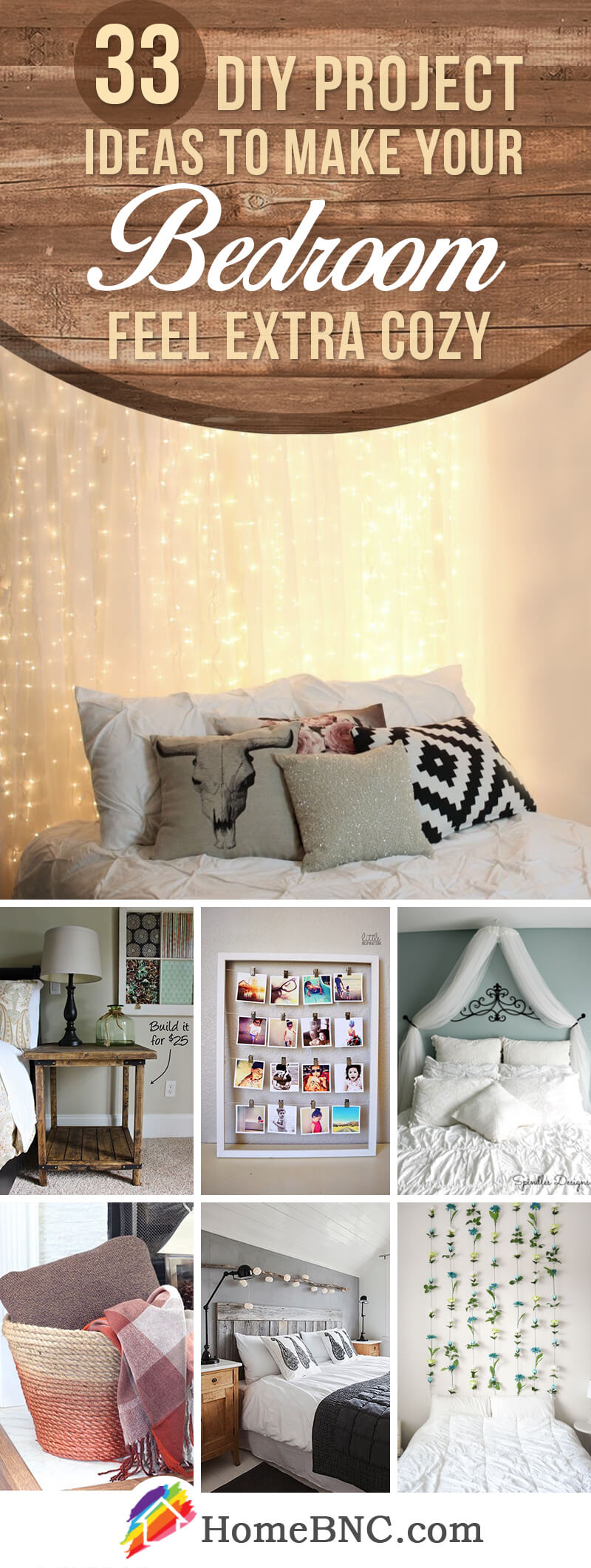 33 Best DIY Cozy Bedroom Project Ideas and Designs for 2018