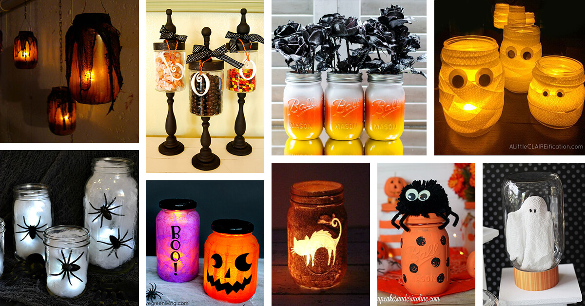 30 Best Diy Mason Jar Halloween Crafts Ideas And Designs For 2021