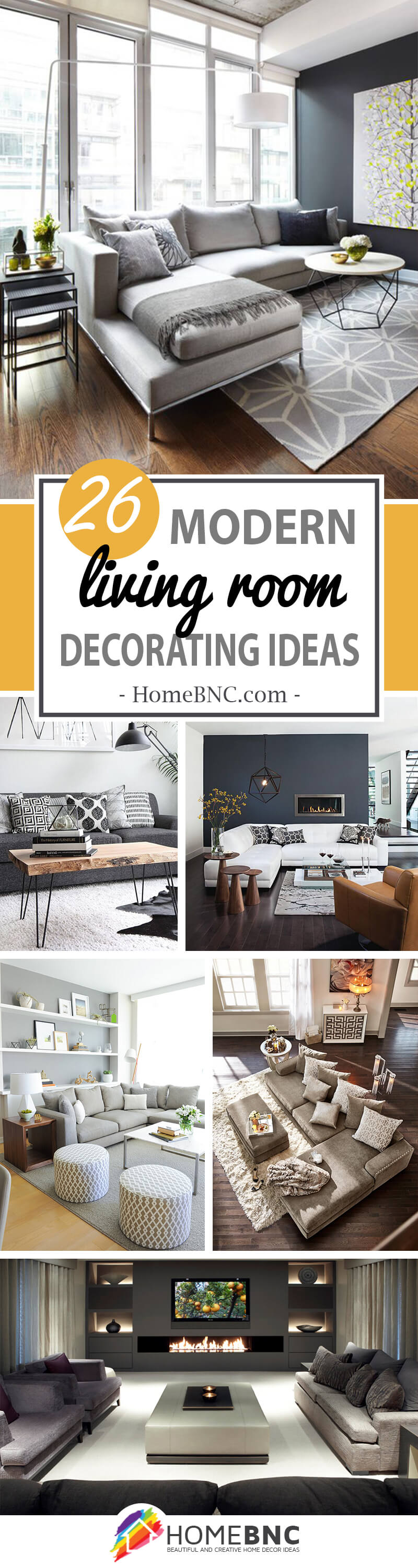 26 Best Modern Living Room Decorating Ideas and Designs for 2018