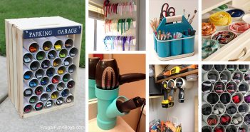 PVC Pipe Organizing and Storage Projects
