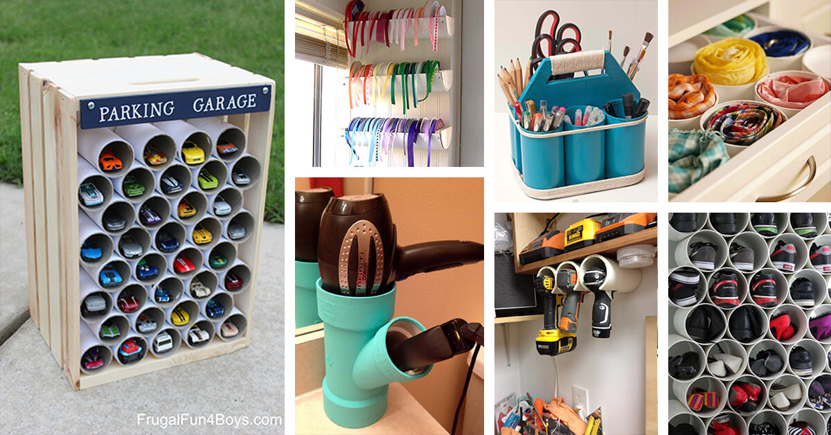 26 Best PVC Pipe Organizing and Storage Projects (Ideas and