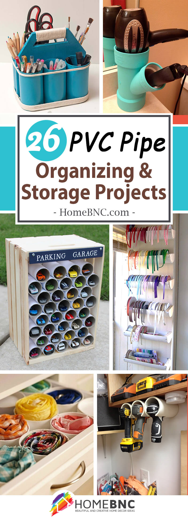 PVC Pipe Organizing and Storage Ideas