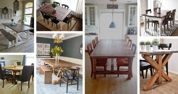 Rustic DIY Farmhouse Table Ideas