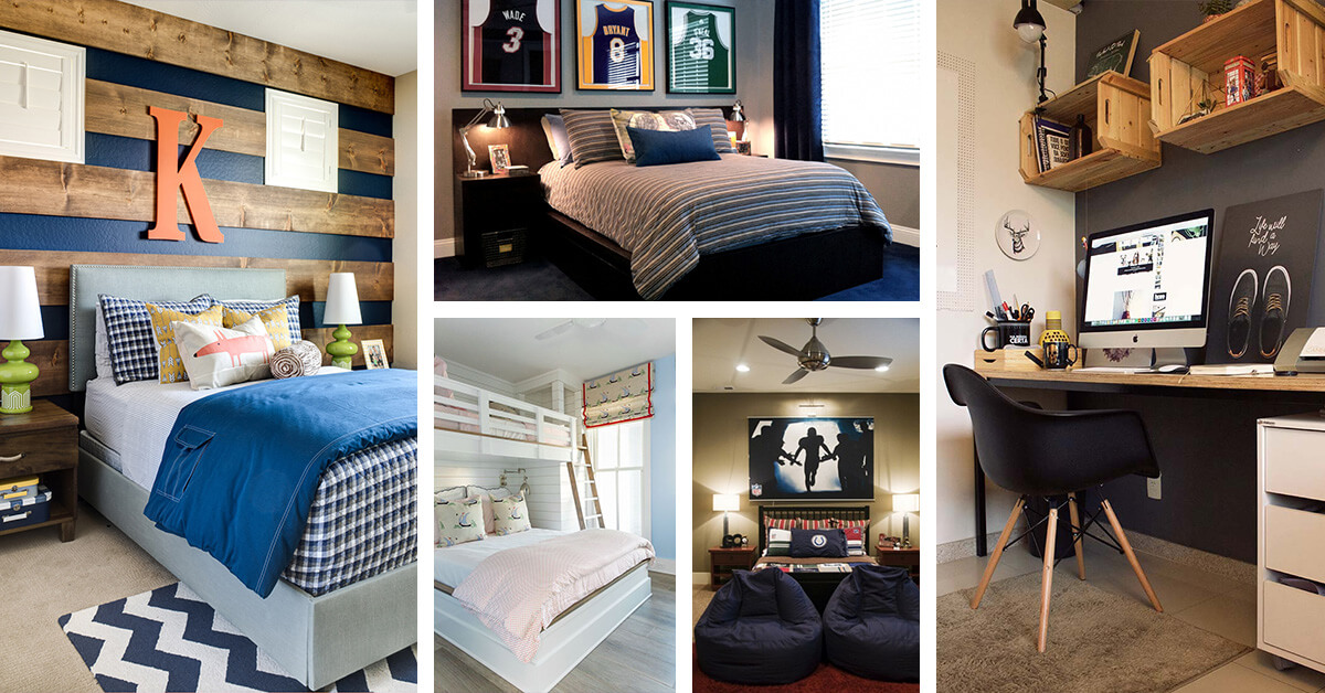 33 best teenage boy room decor ideas and designs for 2019. Black Bedroom Furniture Sets. Home Design Ideas