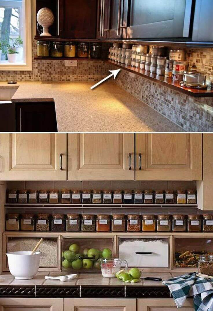 Clutter Free Kitchen Countertop Ideas