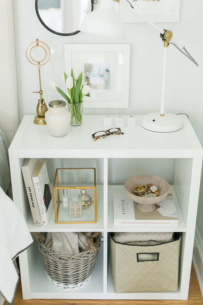 Windowpane-styled Nightstand in a Clean White Finish