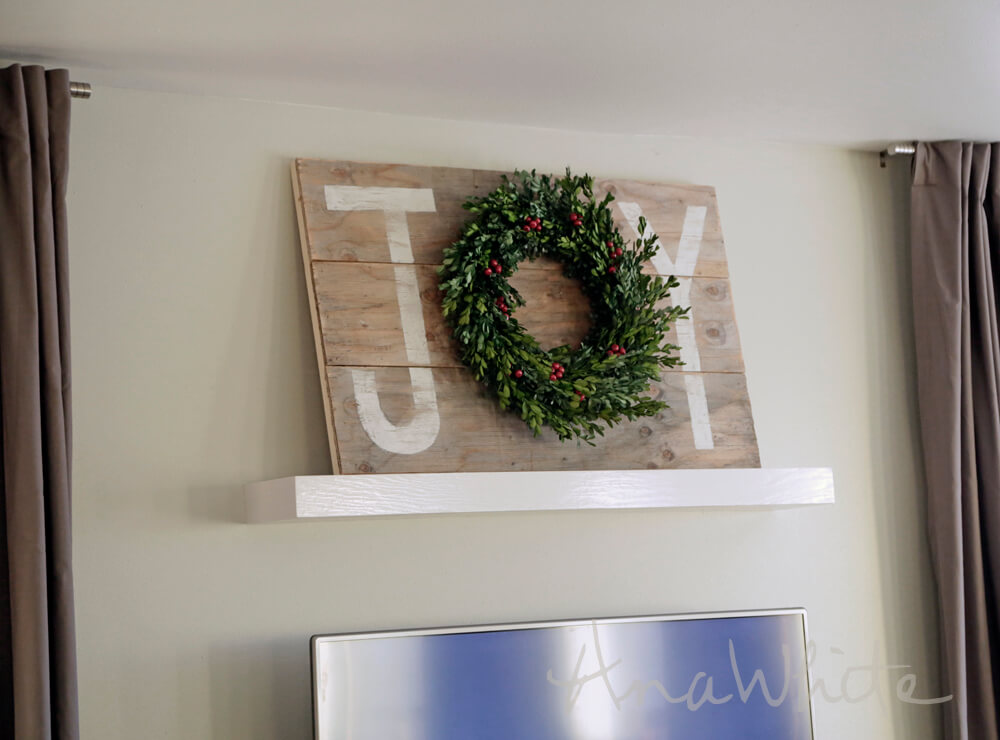 "DIY ""Joy"" Wreath Wooden Sign"