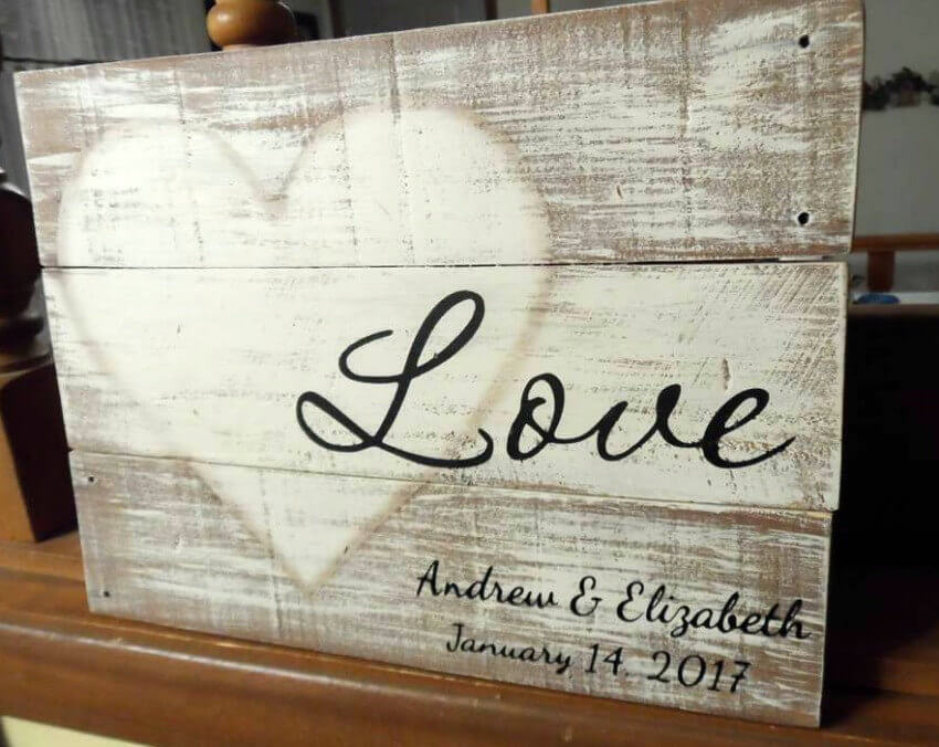 Rustic LOVE Wood Signs for Weddings