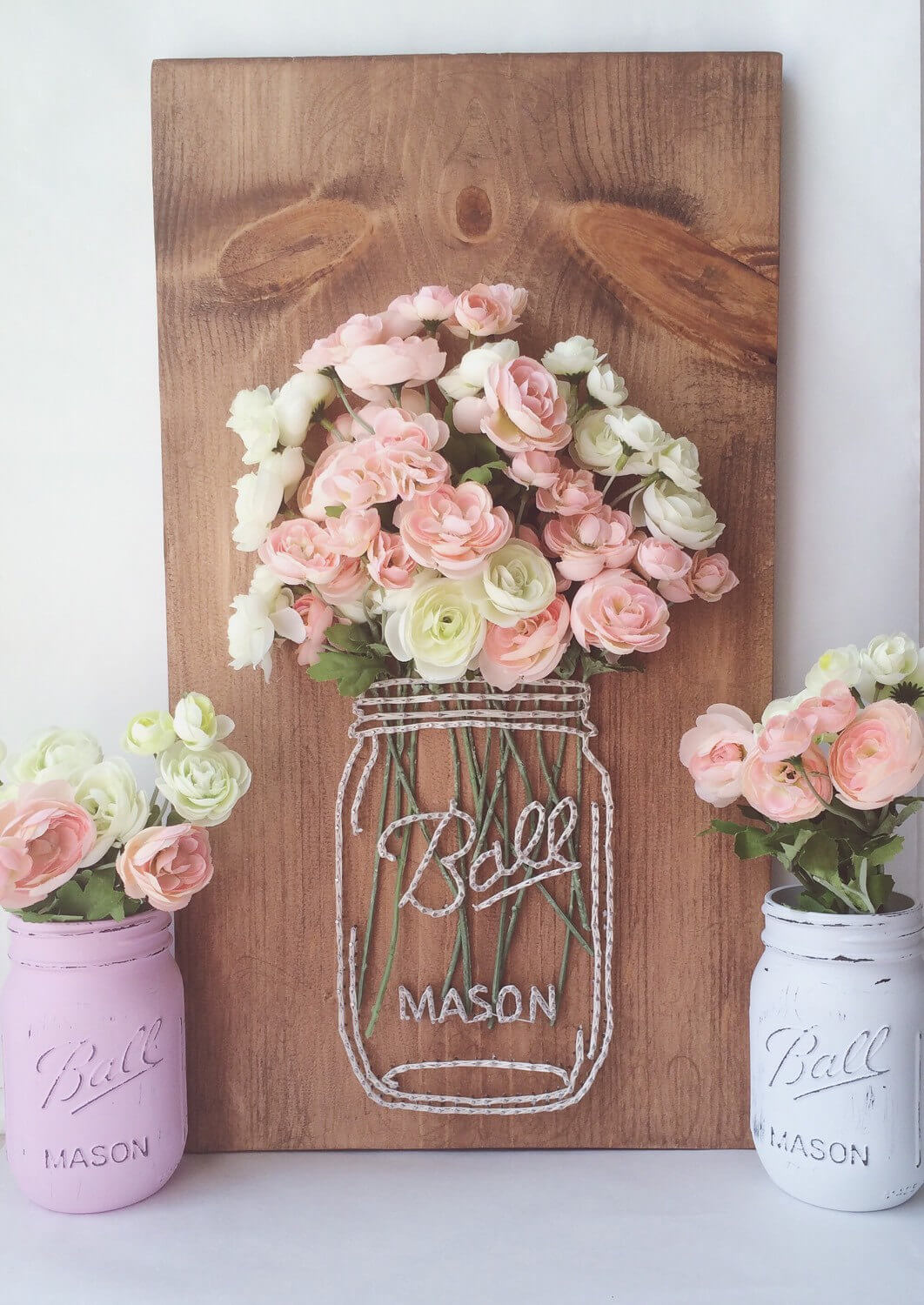 Mason Jar Bouquet String Art