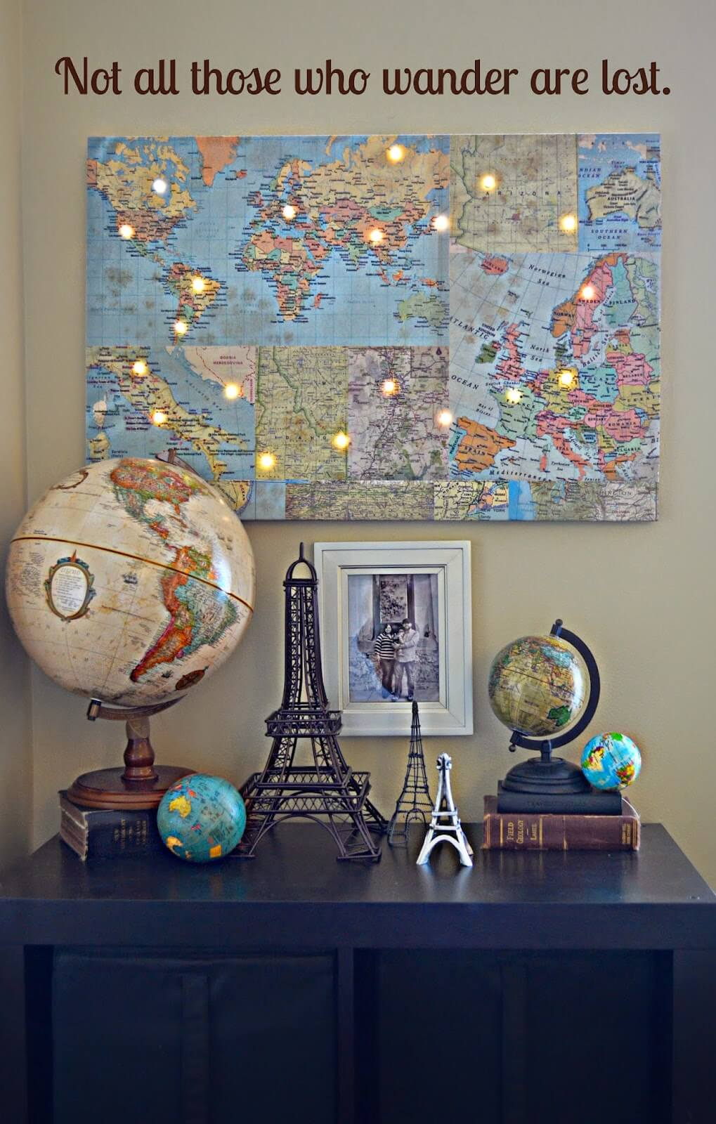 Light Up Travel Destinations Map