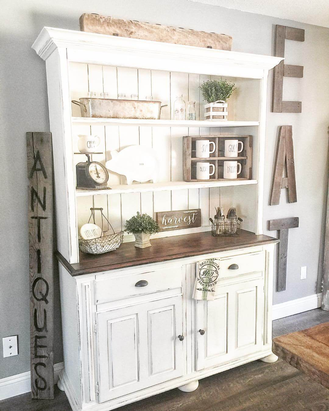 Country Kitchen Hutches: 32 Best Dining Room Storage Ideas And Designs For 2019