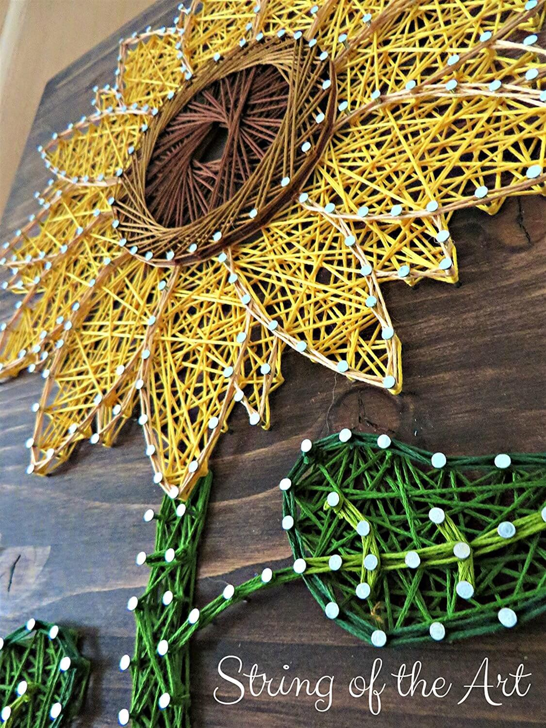 Cute Sunflower String Art Tutorial