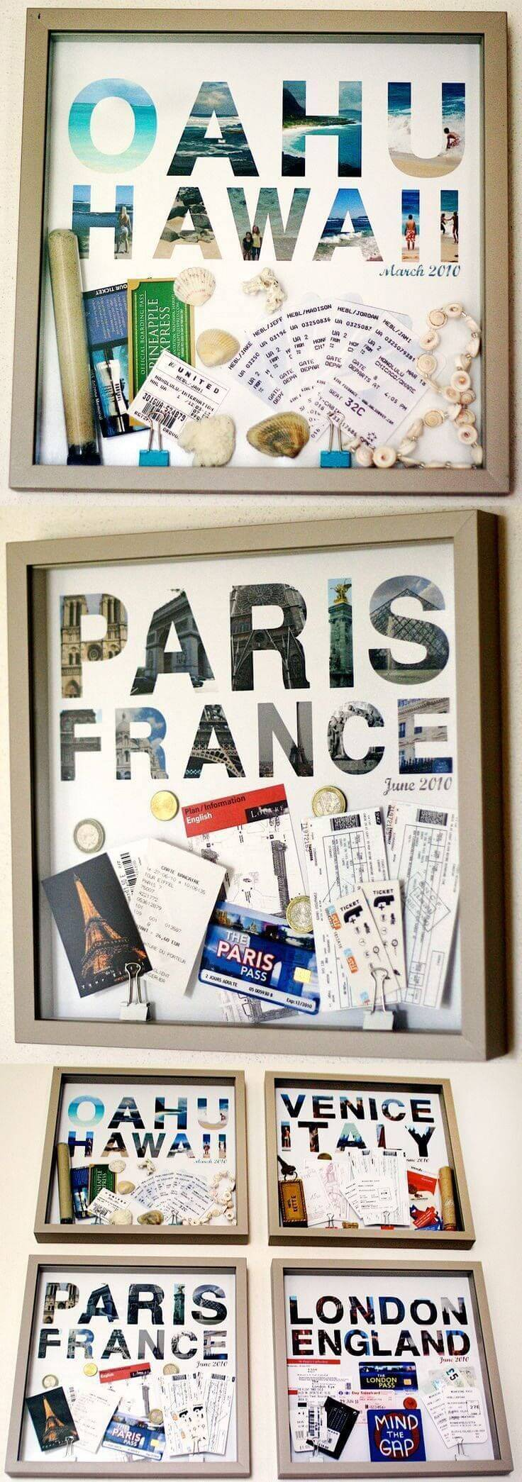 Travel Souvenir Shadow Box