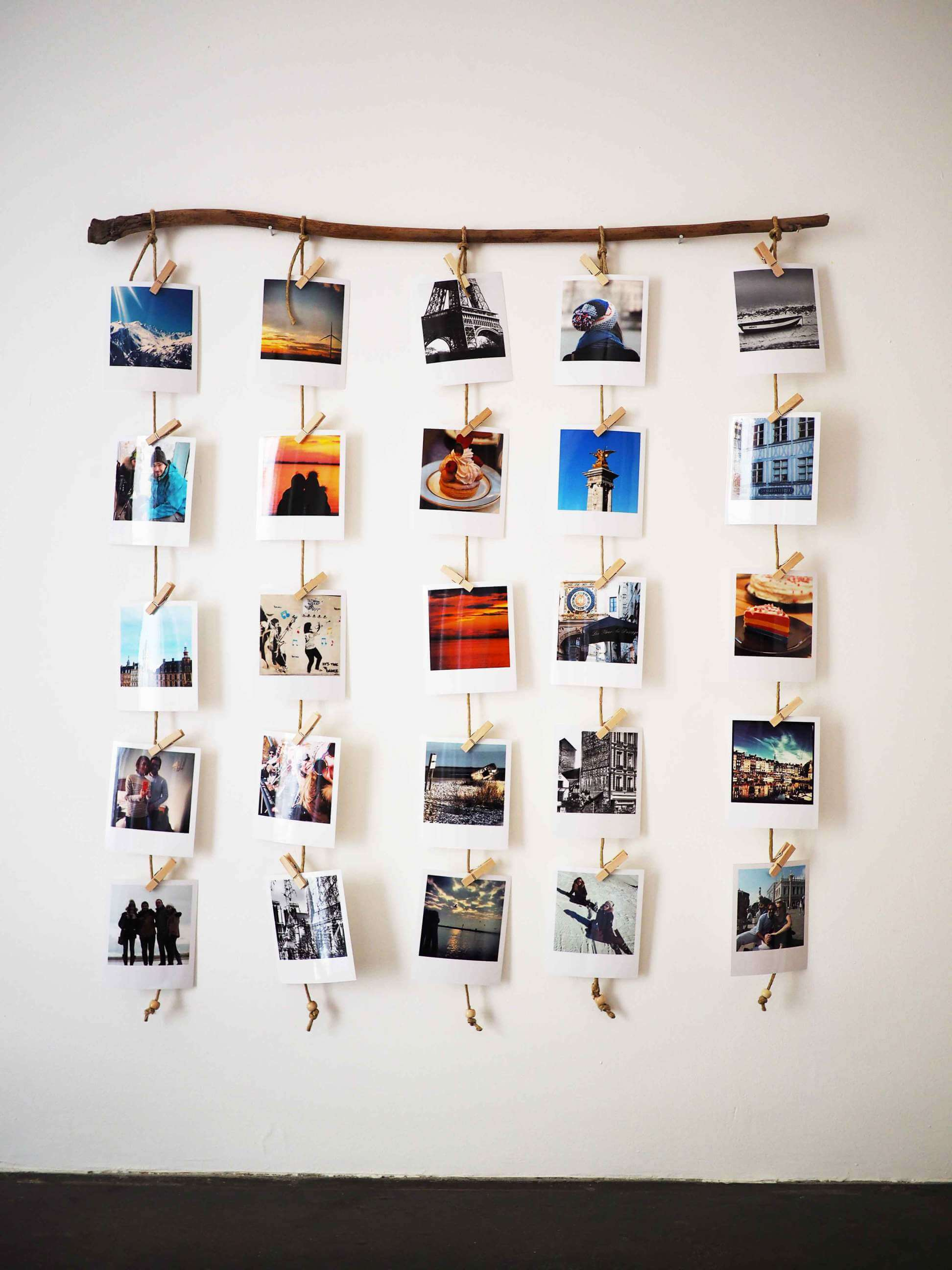 Hanging Polaroid Photo Display Project