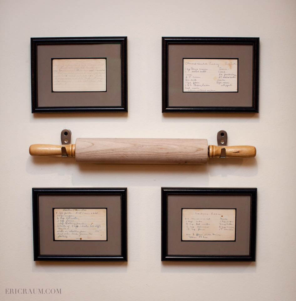 Beau 4. Rolling Pin And Recipe Card Display