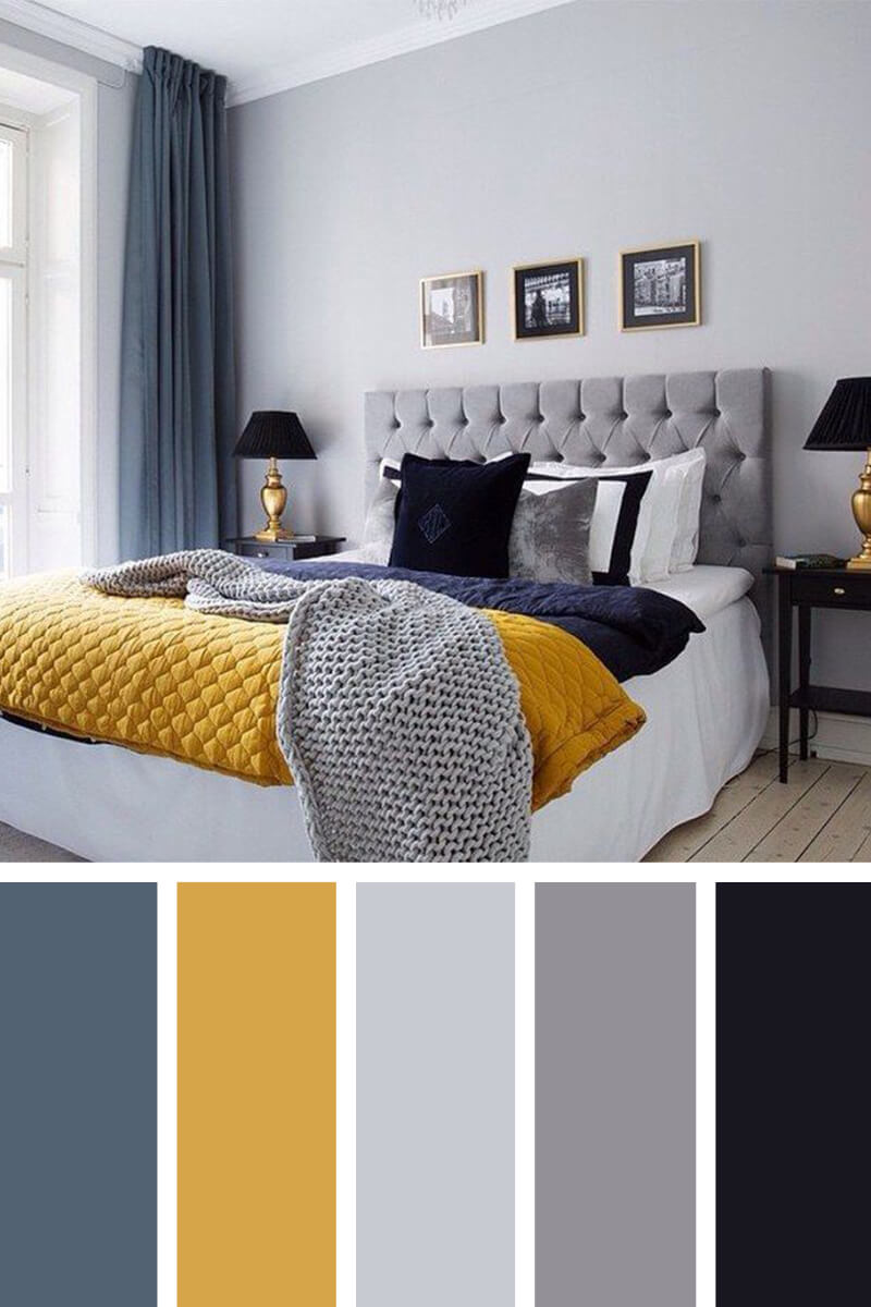 gray bedroom color schemes 12 best bedroom color scheme ideas and designs for 2018 15457