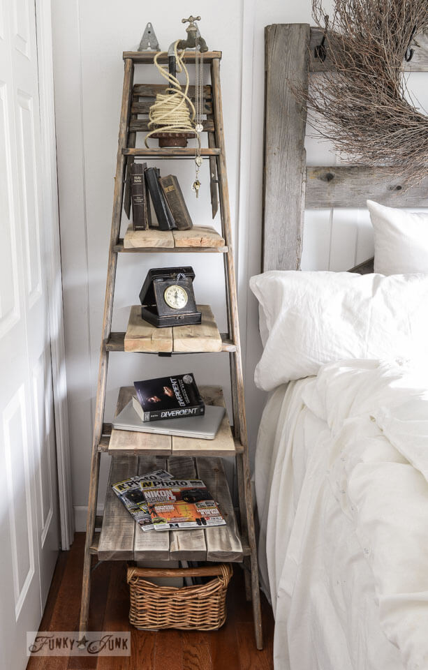 Stepladder Nightstand Perfect for Thematic Décor