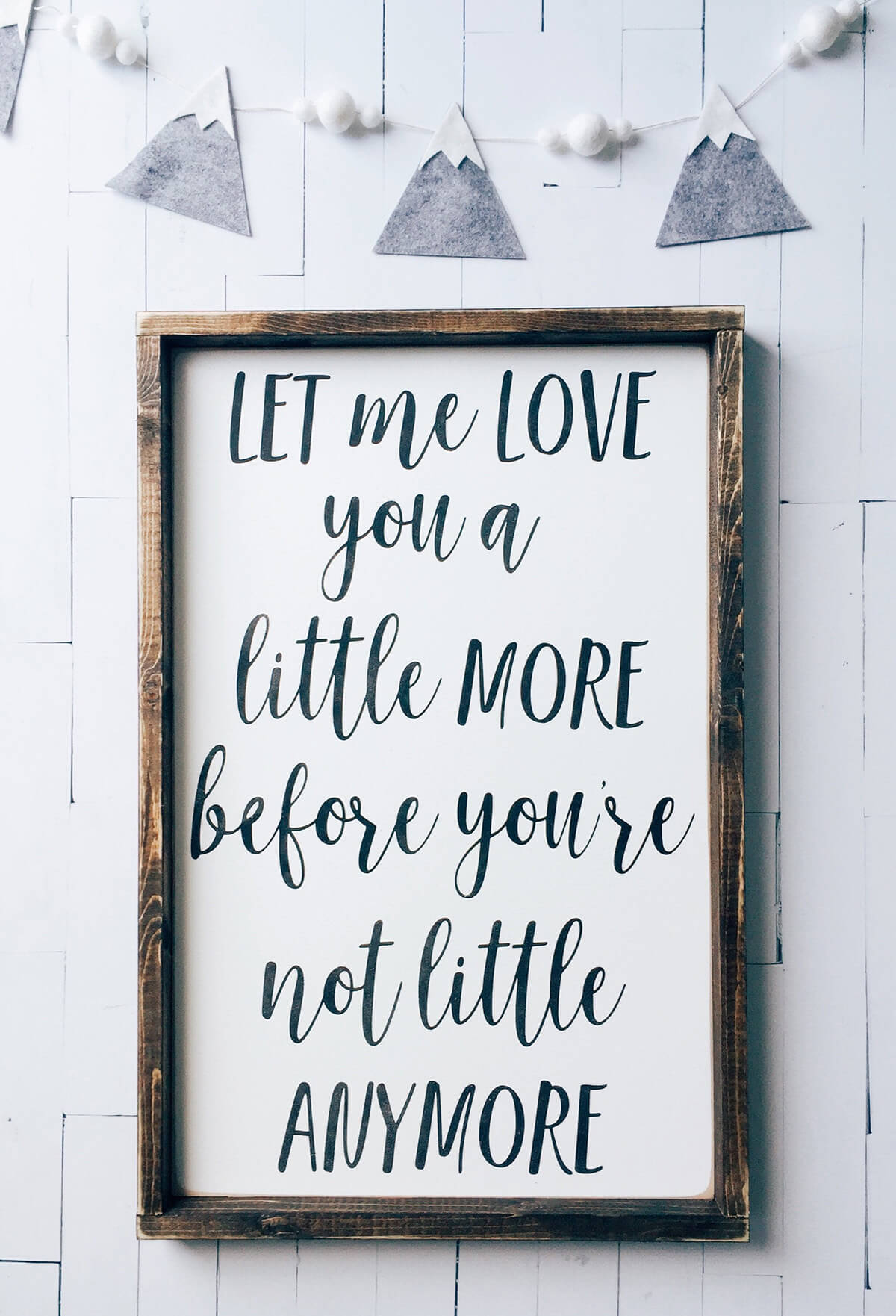 Sweet, Sentimental Wooden Nursery Sign