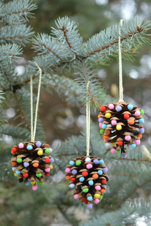 Visions Of Gumdrop Pinecone Ornaments