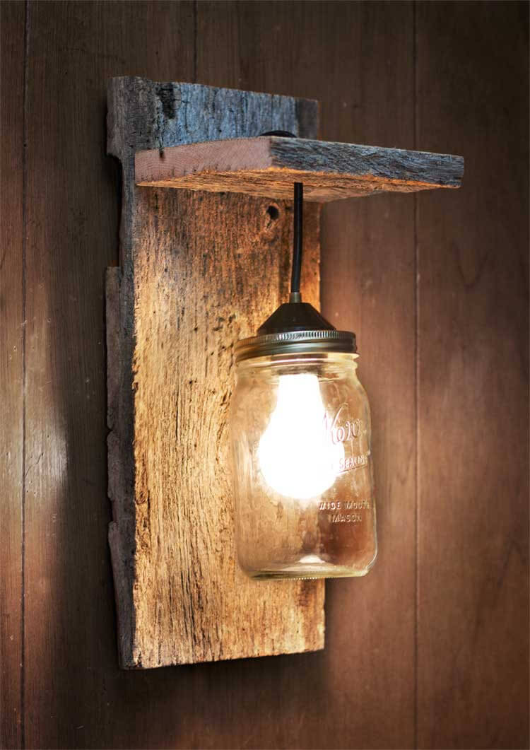 Rustic Mason Jar Lantern Wall Decor