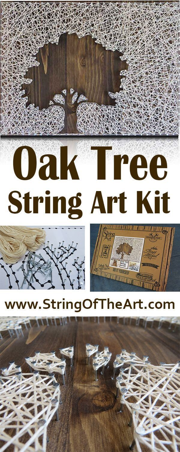 Lovely Oak Tree String Art