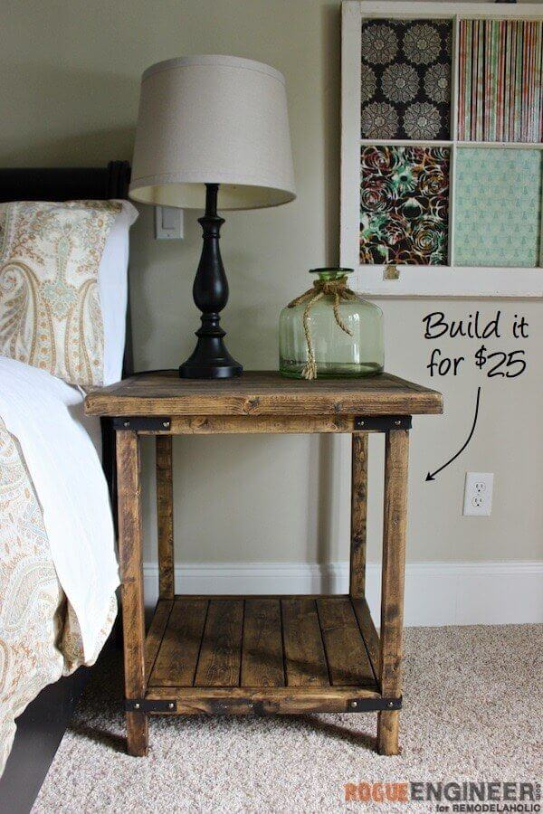 Weathered Nightstand Perfect for a Farmhouse