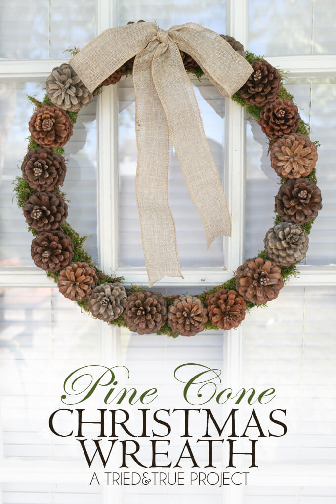 Rustic Pine Cone Winter Wreath