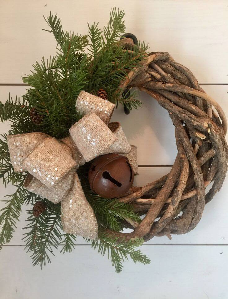 Rustic Christmas Grapevine Wreath