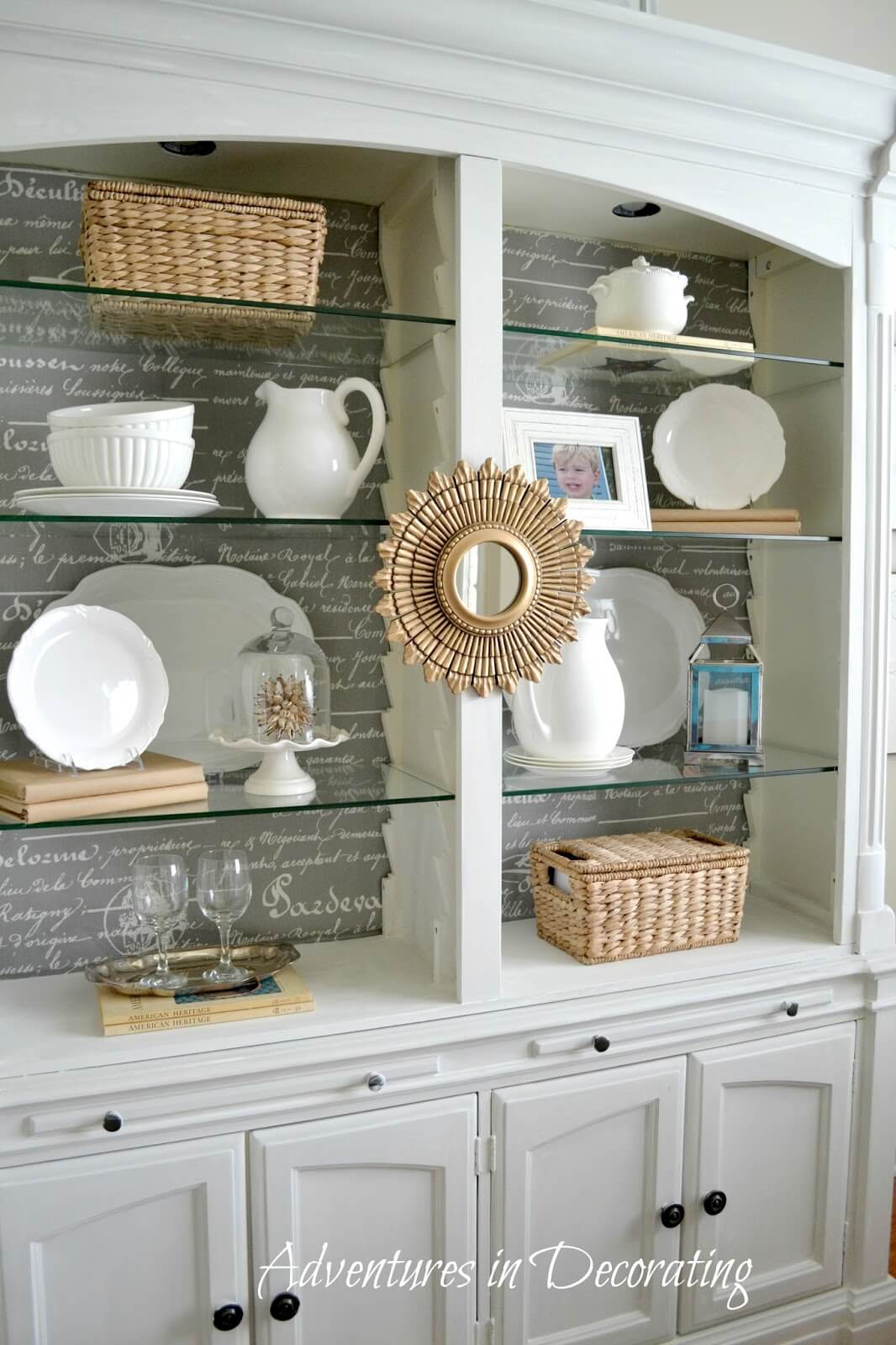 French Provincial Inspired Open Display