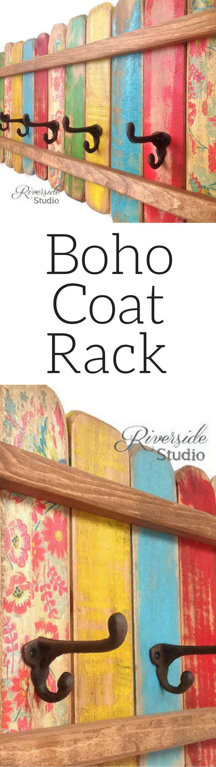 Boho Picket Fence Coat Rack Project