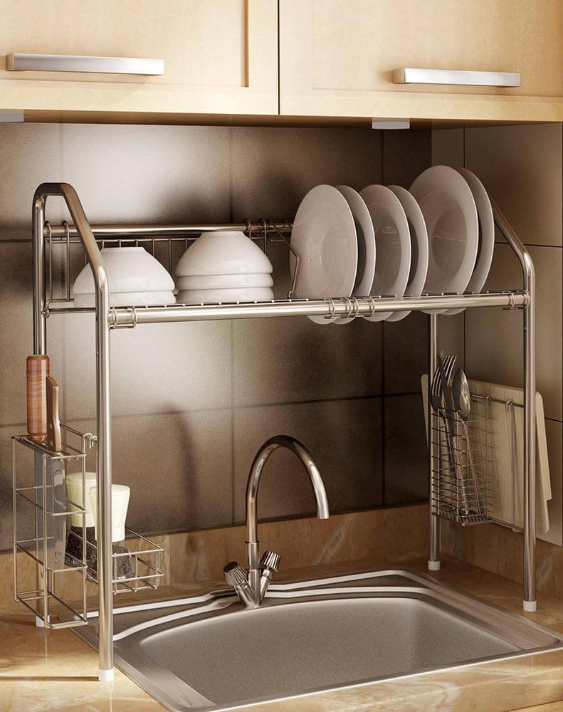 Over The Sink Dish Drainer