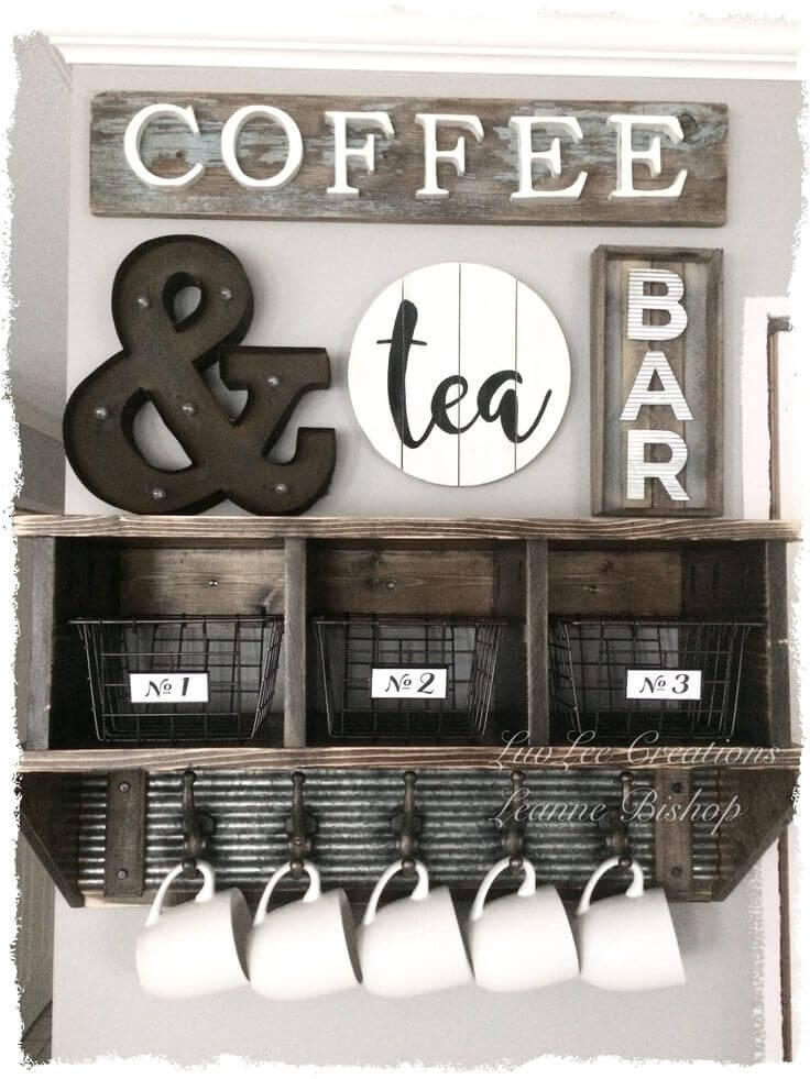 10. DIY Coffee And Tea Bar