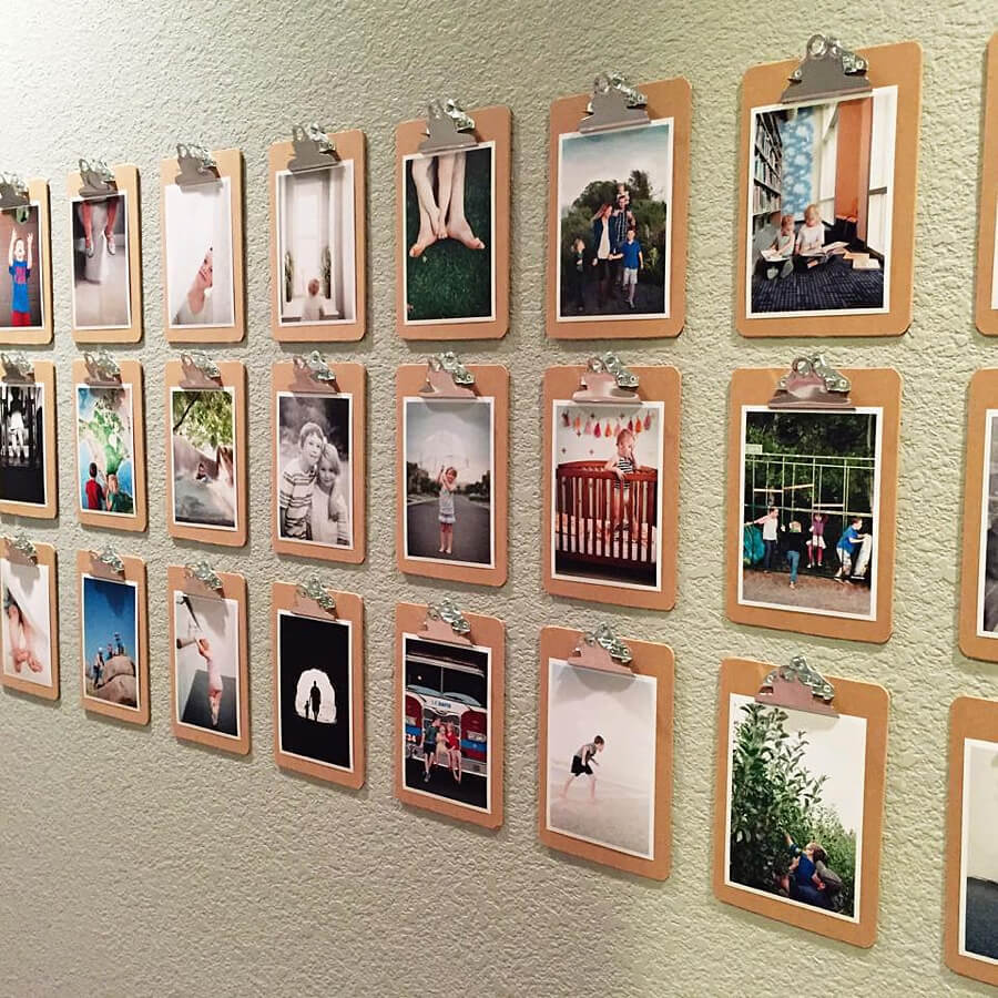 Mini Photo Clipboard Gallery Wall