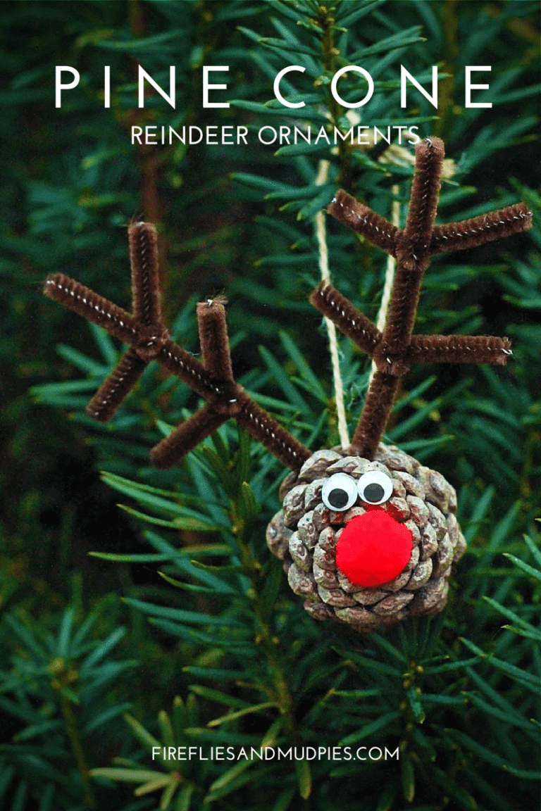 Charming Rudolf The Red-nosed Reindeer Pinecone Ornament
