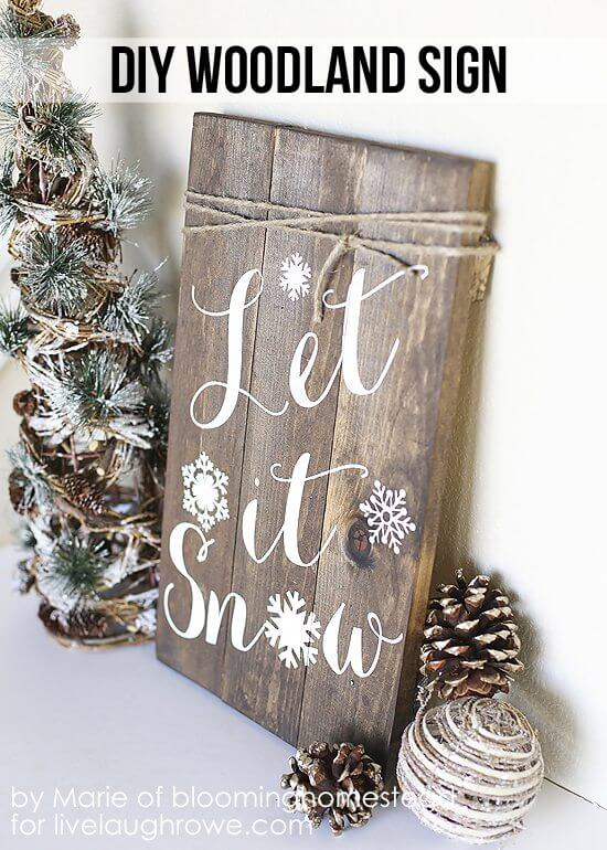 """Let It Snow"" Wall Art"