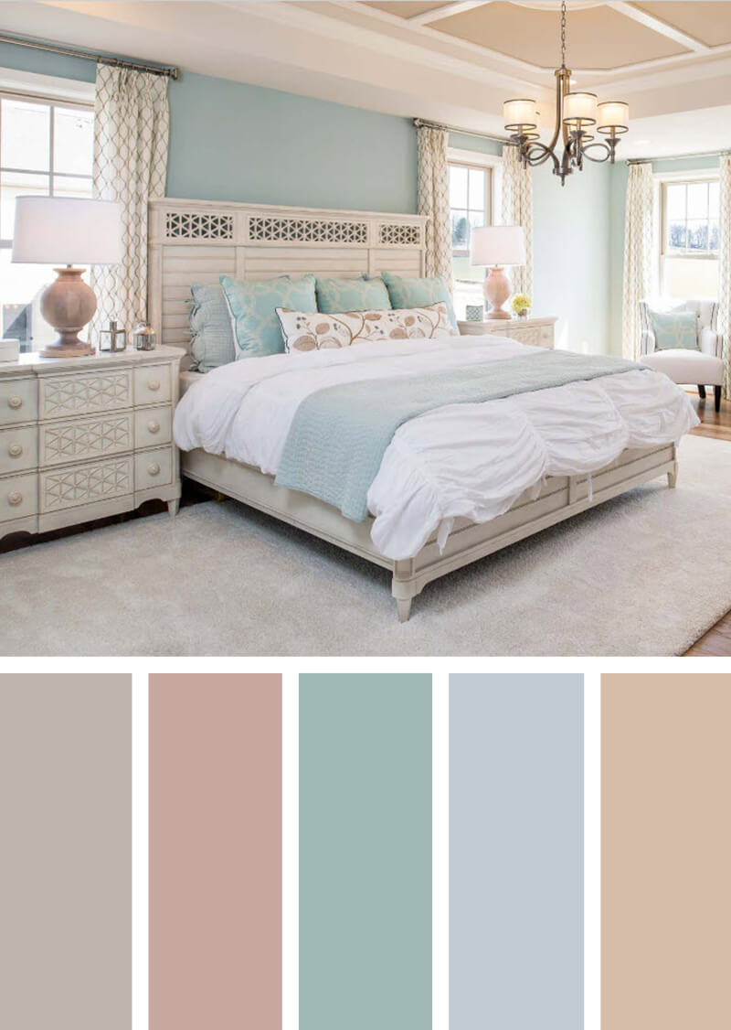 dusky pink bedroom