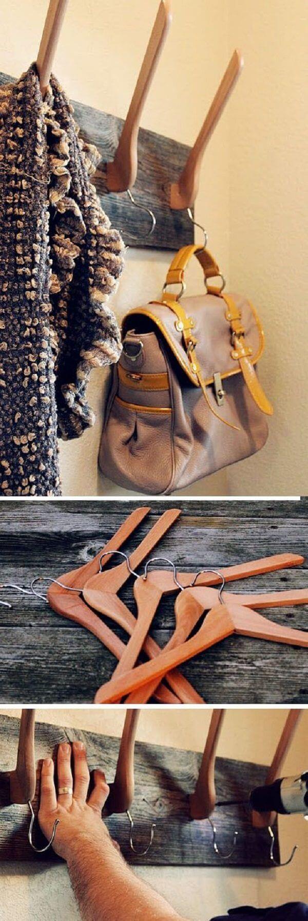 How to Dress Up Plain Wood Hangers